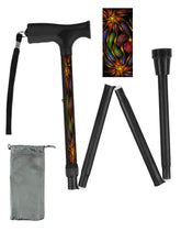 Load image into Gallery viewer, Fun Fractal Art Folding Walking Canes only $39.99!