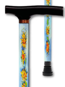 T Handle Walking Canes Beautiful Florals & Irish Styles