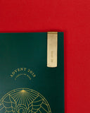 Read On Brass Bookmark