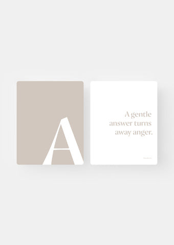 ABC Bible Wall Cards - Neutral