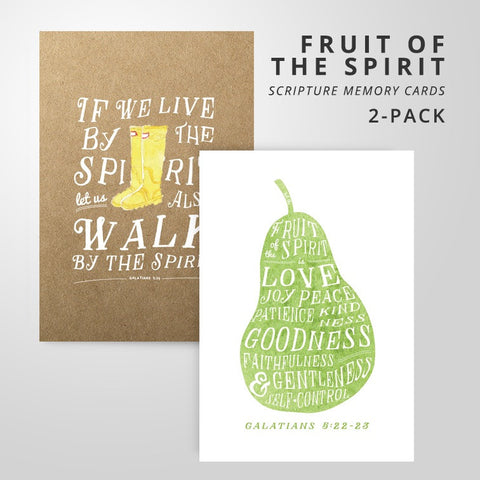 2 Scripture Memory Cards | Fruit of the Spirit Pack