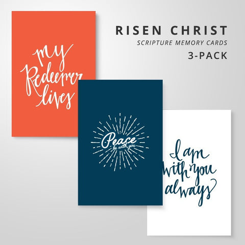 3 Scripture Memory Cards | Risen Christ Pack