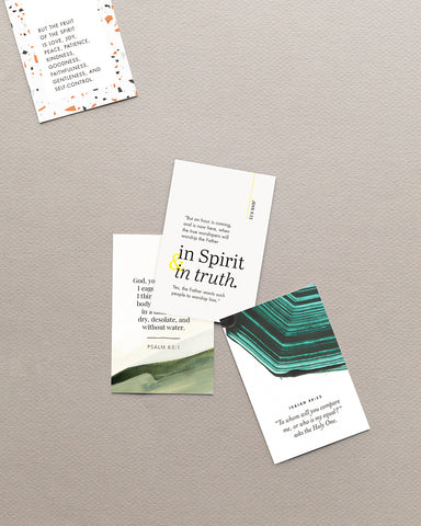 Scripture Mini-Cards - English
