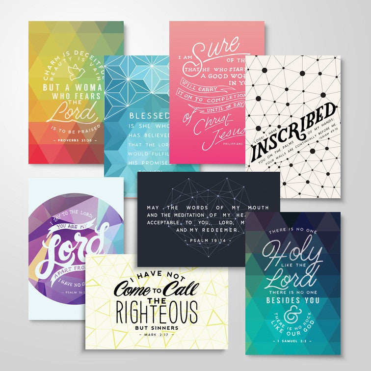 "8 Scripture Memory Cards | ""Women In The Word"" Pack"