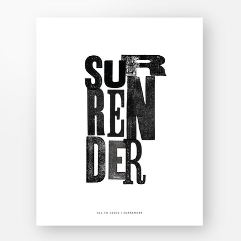"""Surrender"" Art Print"