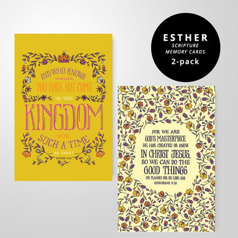 2 Scripture Memory Cards | Esther Pack