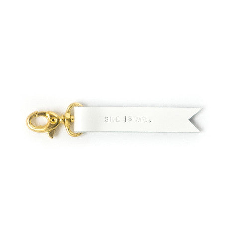 """She Is Me"" Leather Keychain"