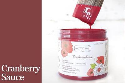 Cranberry Sauce Chalk Style All-In-One Paint from Country Chic Paint - DIY eco friendly home decor paint