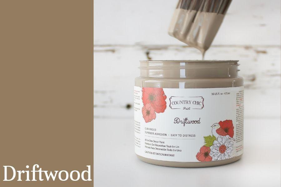 Driftwood Chalk Style All-In-One Paint from Country Chic Paint - DIY eco friendly home decor paint