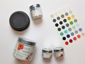 Getting Started Kit from Country Chic Paint - eco-friendly, VOC free, clay-based All-in-One Decor Paint, Clear Bonding Primer, and Natural Wax and Antiquing Wax for furniture restorations and home decor DIY projects