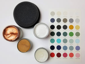 Glamorous Finishes Kit from Country Chic Paint - eco-friendly, VOC free, clay-based All-in-One Decor Paint, Furniture Glaze, Copper Metallic Cream, and Pearl and Gold Furniture Wax for furniture restorations and home decor DIY projects