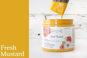 Fresh Mustard Chalk Style All-In-One Paint from Country Chic Paint - DIY eco friendly home decor paint