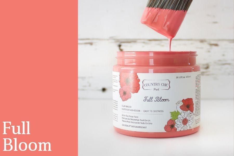 Full Bloom Chalk Style All-In-One Paint from Country Chic Paint - DIY eco friendly home decor paint