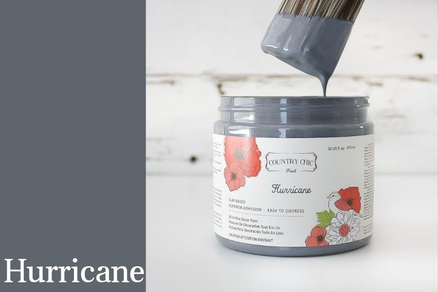 Hurricane Chalk Style All-In-One Paint from Country Chic Paint - DIY eco friendly home decor paint