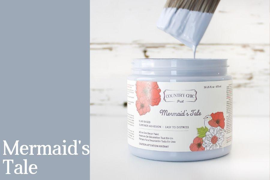 Mermaid's Tale Chalk Style All-In-One Paint from Country Chic Paint - DIY eco friendly home decor paint