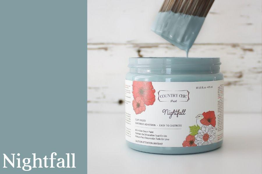 Nightfall Chalk Style All-In-One Paint from Country Chic Paint - DIY eco friendly home decor paint