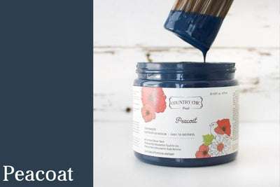 Peacoat Chalk Style All-In-One Paint from Country Chic Paint - DIY eco friendly home decor paint