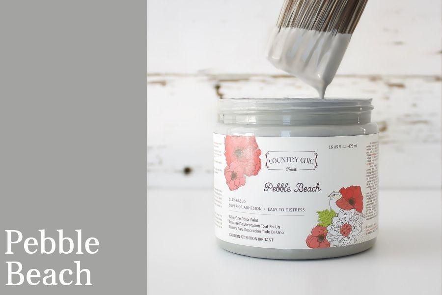 Pebble Beach Chalk Style All-In-One Paint from Country Chic Paint - DIY eco friendly home decor paint