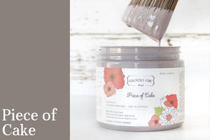 Piece of Cake Chalk Style All-In-One Paint from Country Chic Paint - DIY eco friendly home decor paint
