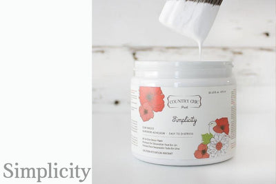 Simplicity Furniture Paint - All-in-One Decor Paint from Country Chic Paint - DIY eco friendly home decor paint