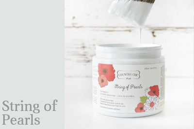 String of Pearls Chalk Style All-In-One Paint from Country Chic Paint - DIY eco friendly home decor paint