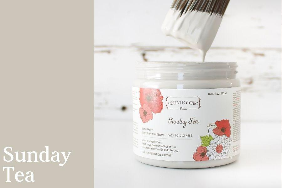 Sunday Tea Chalk Style All-In-One Paint from Country Chic Paint - DIY eco friendly home decor paint