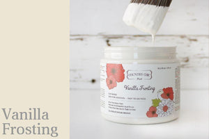 Vanilla Frosting Chalk Style All-In-One Paint from Country Chic Paint - DIY eco friendly home decor paint