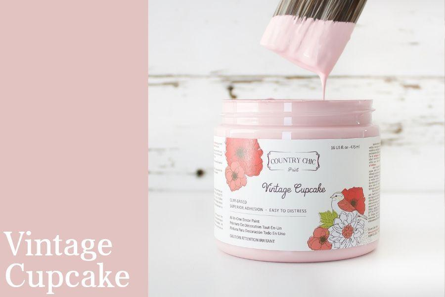 Vintage Cupcake Chalk Style All-In-One Paint from Country Chic Paint - DIY eco friendly home decor paint
