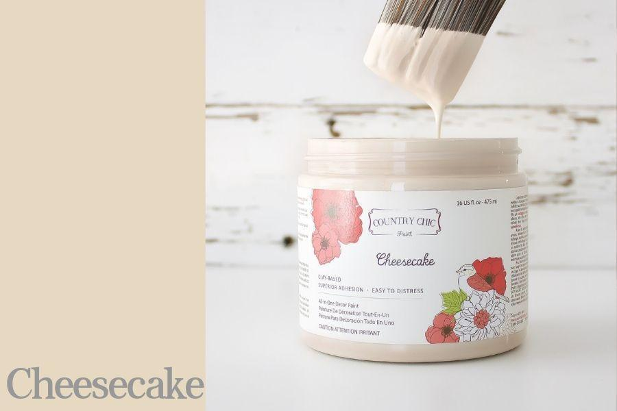 Cheesecake Chalk Style All-In-One Paint from Country Chic Paint - DIY eco friendly home decor paint