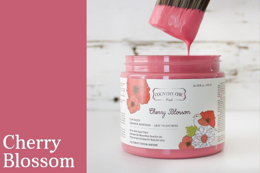 Cherry Blossom Chalk Style All-In-One Paint from Country Chic Paint - DIY eco friendly home decor paint