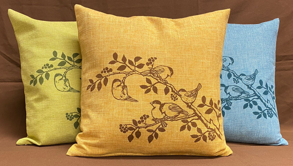 Chickadee Cushion Cover - Marigold
