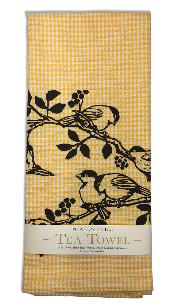 Chickadees Tea Towel