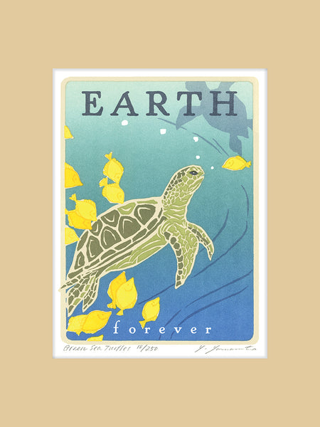 Green Sea Turtle - Earth Forever