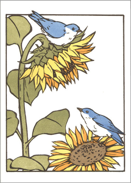 Sunflower & Bluebird