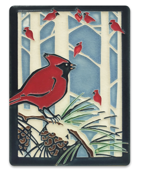 Winter Cardinals Tile