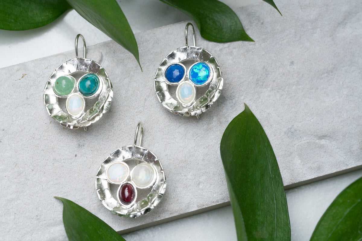 Earrings-Semi Precious stones