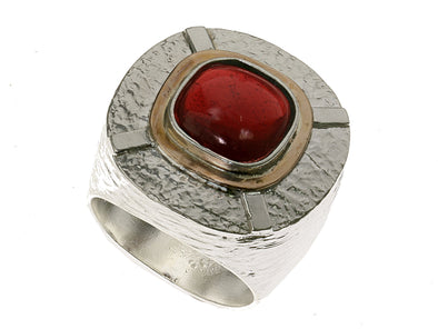 Garnet Statement Ring