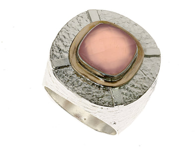 Rose Jade Statement Ring