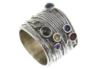 Ring of Many Colors Sterling Silver