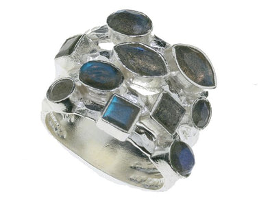 Labradorite Statement Sterling Silver Ring
