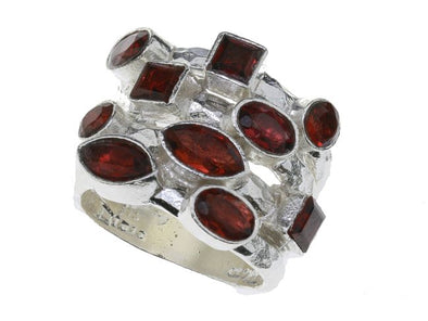 Red All Over Garnet  Ring