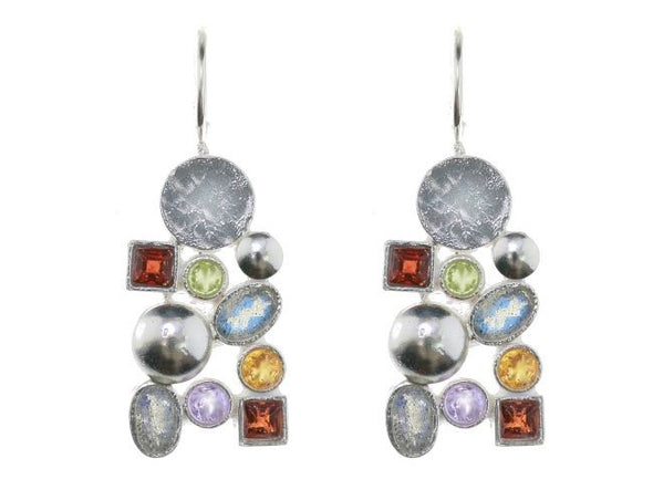 Color My World Sterling Silver Earrings