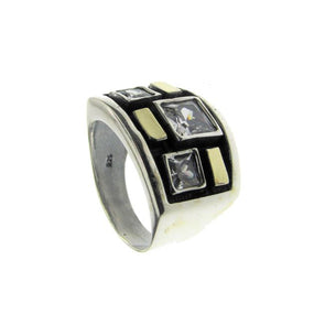 Black Gold Sterling Silver Ring