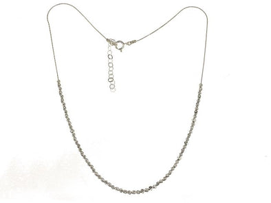 Sterling silver necklace with textured silver beads