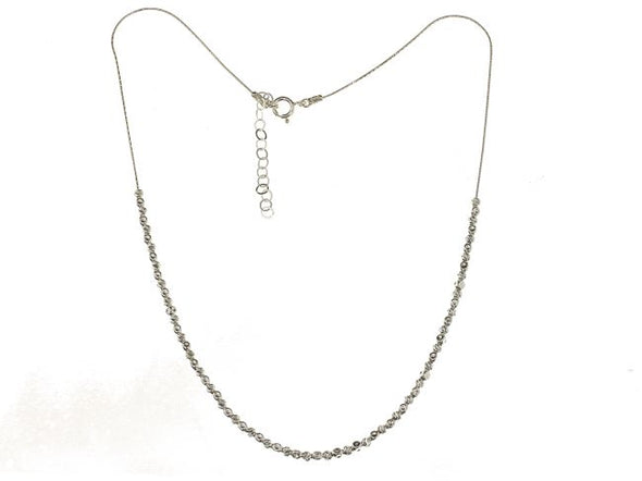 Textured Sterling Silver Bead Necklace