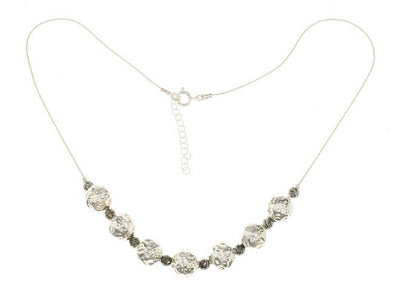 Balls of Sterling Silver Necklace