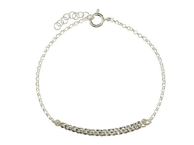 Slice of Life Sterling Silver Bracelet