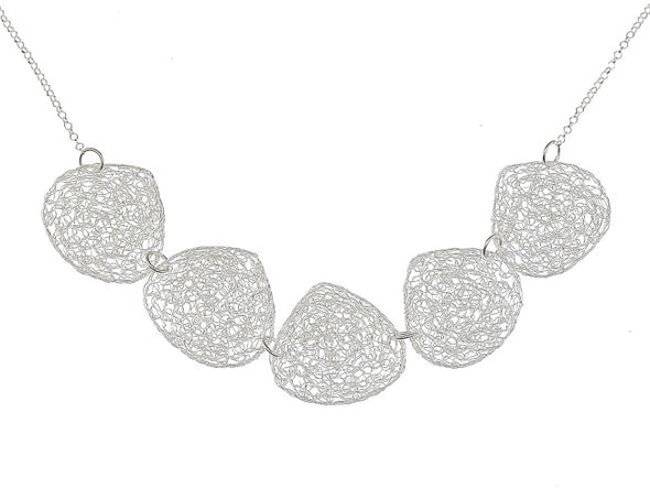 What a Mesh Silver Necklace