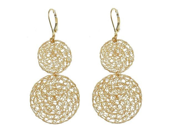 Filled With Gold Mesh Earrings