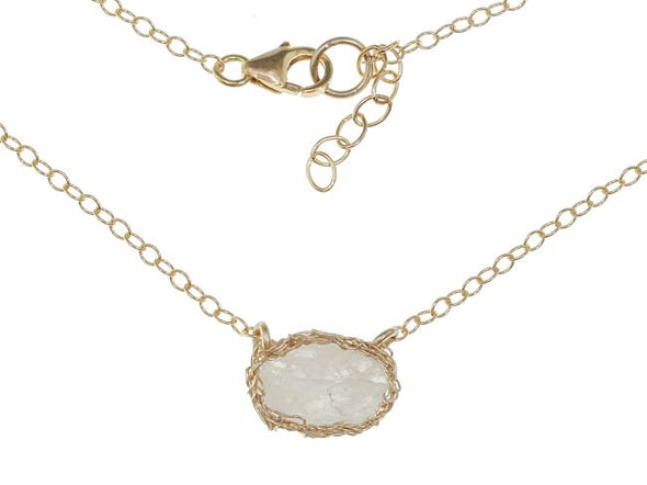Fly Me to the Moonstone Necklace